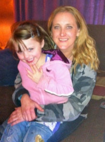 Our daughter Erin + granddaughter Leah