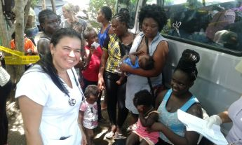 Serving African refugees at the Nicaraguan border of Costa Rica